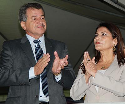 O prefeito Vagner Sales e a deputada Antônia Sales