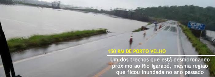 TRECHO CAINDO DA BR