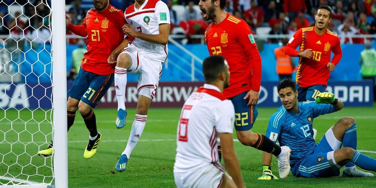 Resultado de imagem para Com ajuda do VAR, Espanha empata com Marrocos e fica em primeiro no Grupo B