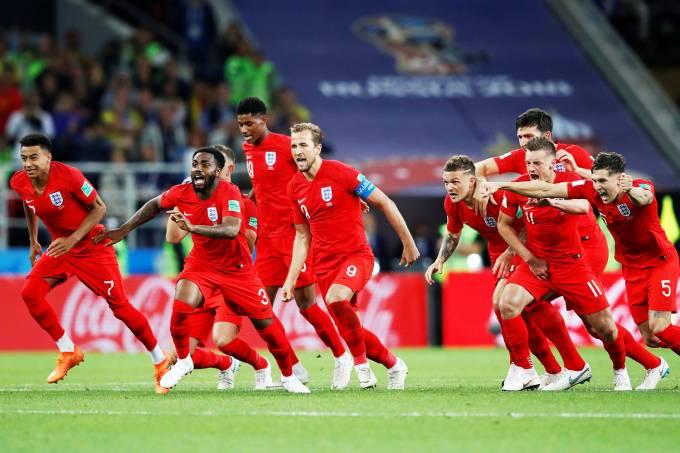 Resultado de imagem para Inglaterra despacha Colômbia em sua primeira vitória nos pênaltis na história da Copa